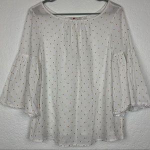 BODEN | Polka Dot Oversized Sleeve Blouse